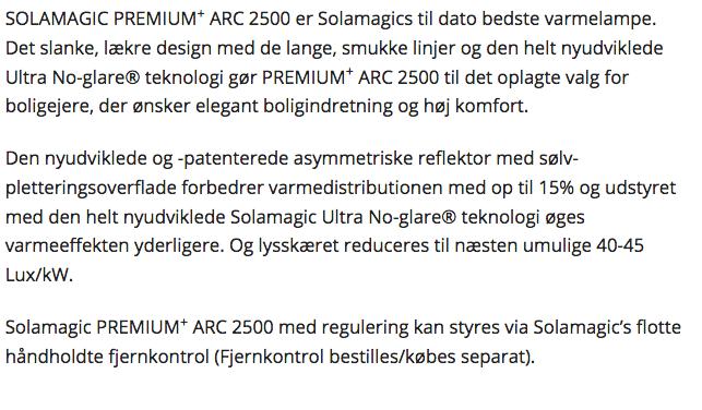SOLAMAGIC PREMIUM+ ARC 2500